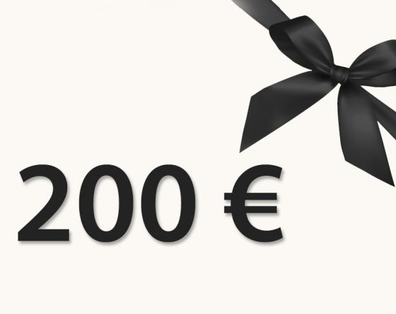 CHÈQUE CADEAU 200€